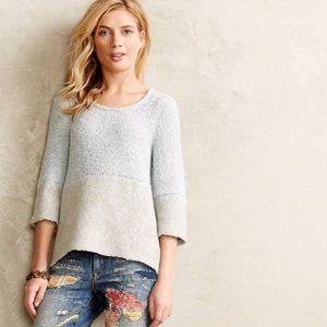 Anthropologie Blue Lace Alpaca Wool Blend Sweater